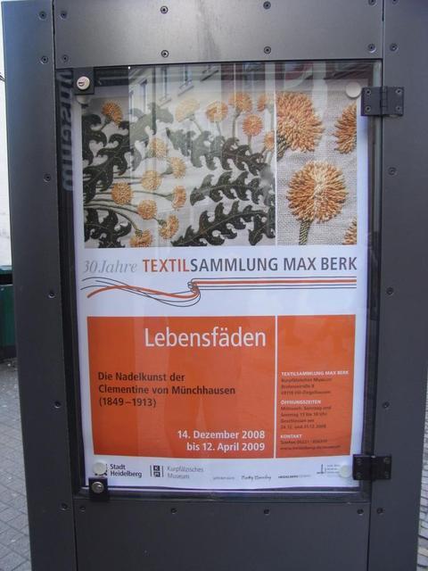 Ausstellungsplakat Textilsammlung Max Berk