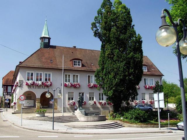 Das Rathaus in Knittlingen