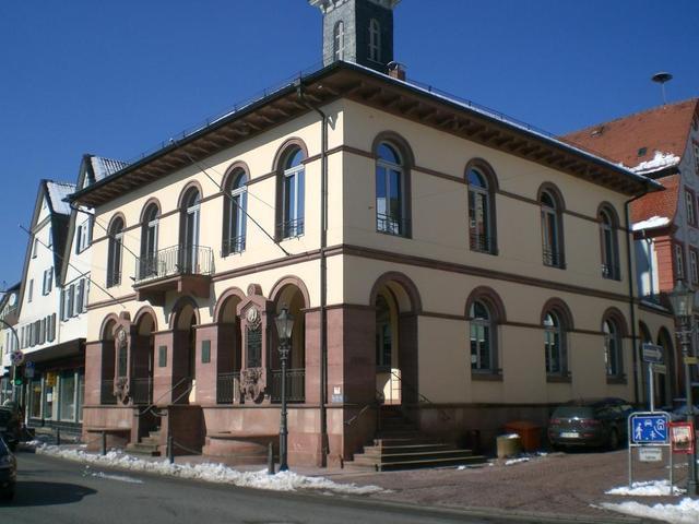 Das Rathaus in Neckarsteinach