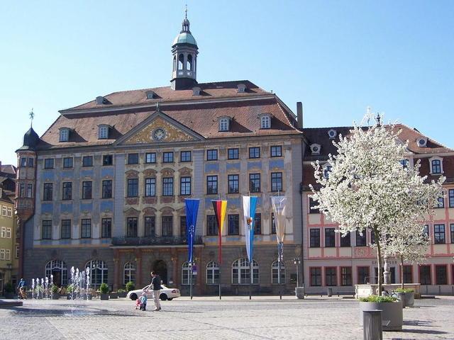Das Rathaus in Coburg