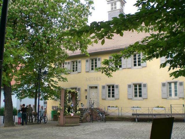 Der Rathausplatz in Feudenheim