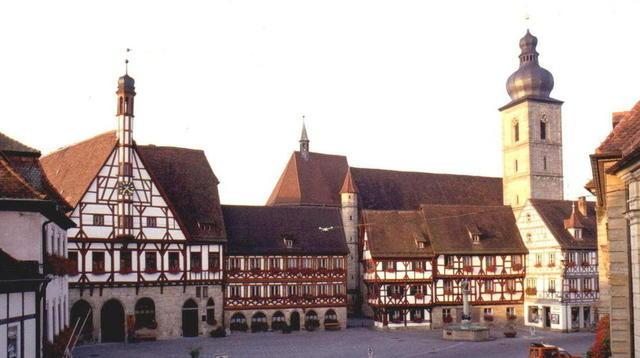 Der Rathausplatz in Forchheim