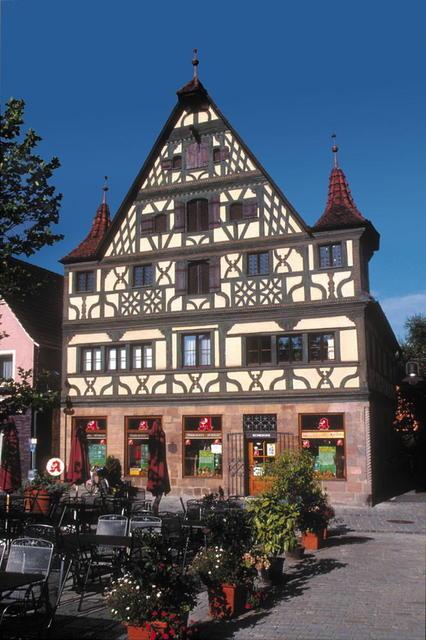 Das Riffelmacherhaus auf dem Rother Marktplatz