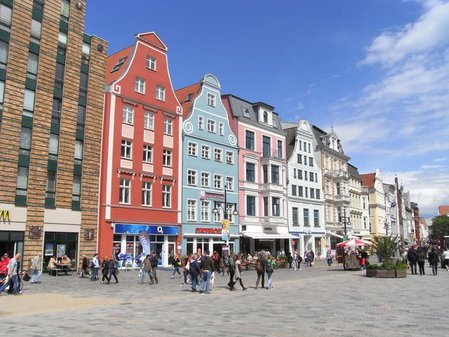 Die Fußgängerzone in Rostock