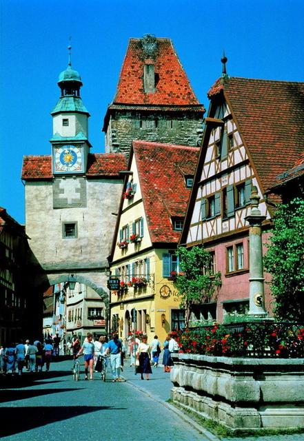 Die schöne Stadt Rothenburg ob der Tauber
