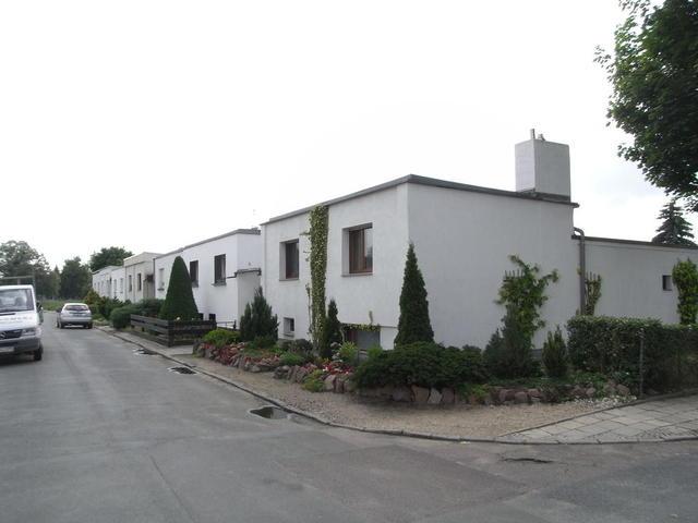 Straße in der Siedlung Törten, Dessau