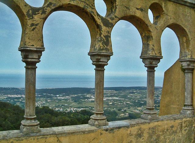 der Atlantik, vom Palacio da Pena in Sintra aus