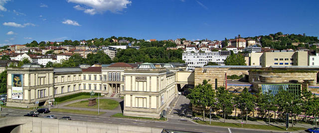 Die Staatsgalerie Stuttgart in der Außenansicht