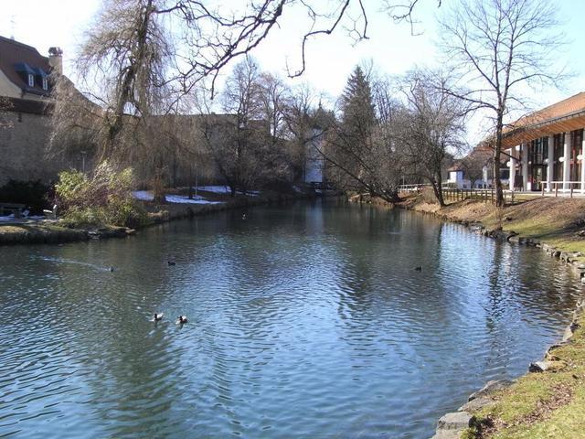 der Teich am Kurhaus Isny