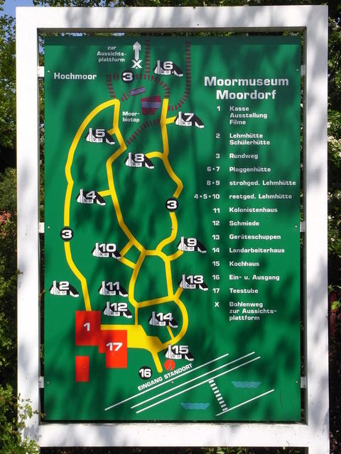 Übersichtsplan Moormuseum