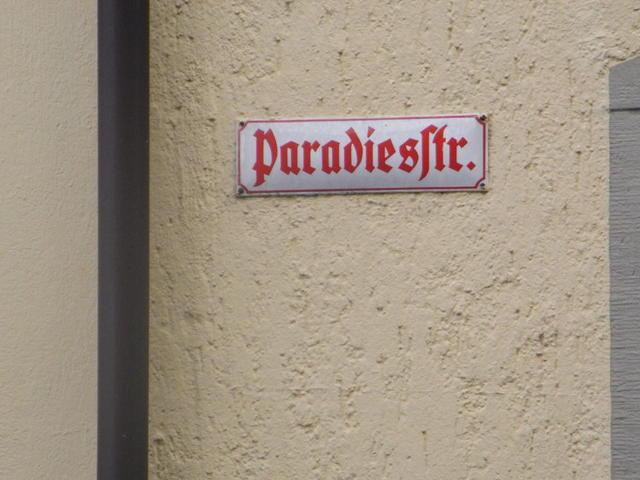 Paradiesstraße in Wangen