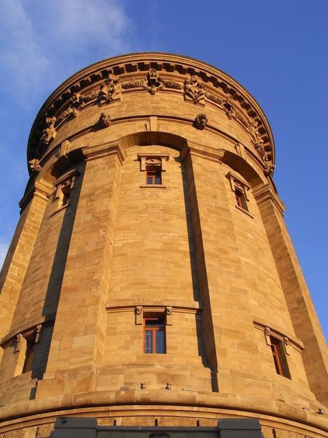 Der Wasserturm in Mannheim, ein Industriedenkmal