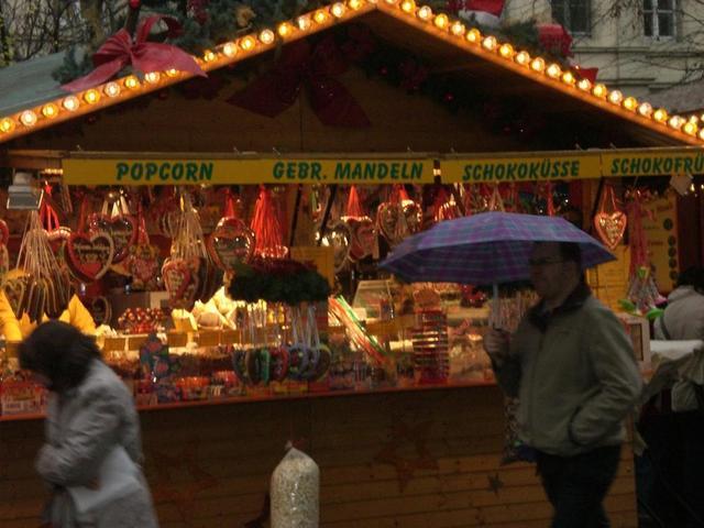 Weihnachtsmarktbüdchen in Heidelberg