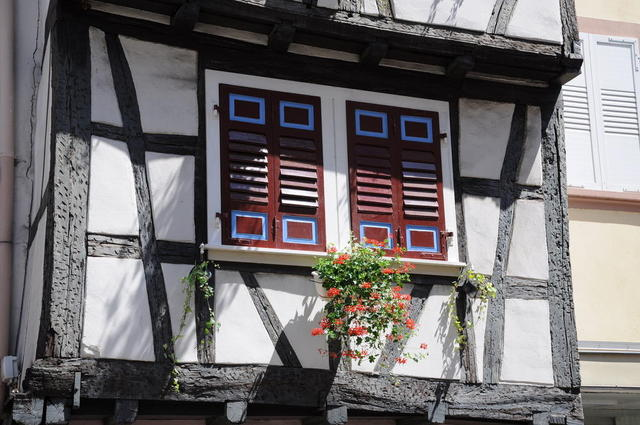 In der  Rue de la Republique in Wissembourg