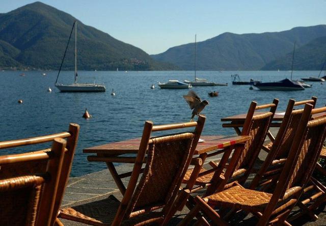 Blick von Ascona auf den Lago Maggiore
