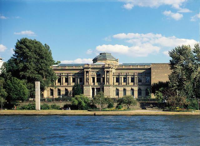 Die Außenansicht des Städel Museums in Frankfurt