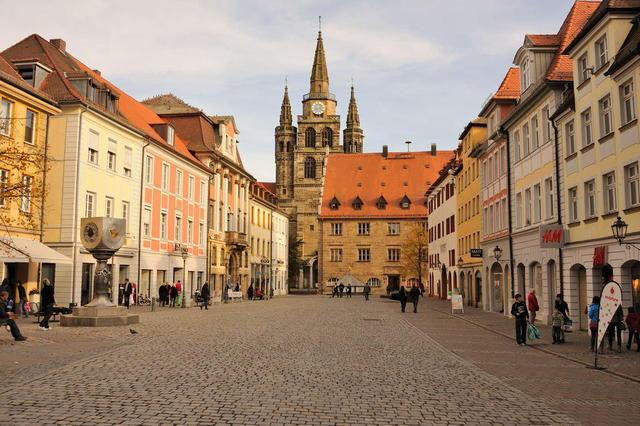 Die fränkische Stadt Ansbach