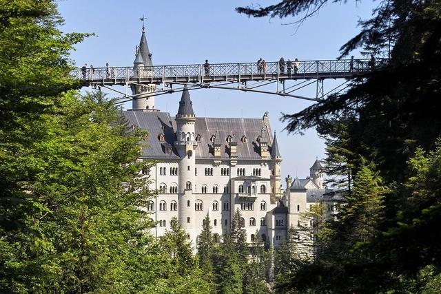 Schloss Neuschwanstein mit der Marienbrücke